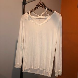 ALYA cut out long sleeve top